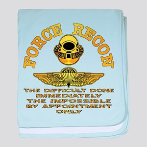 Force Recon The Difficult baby blanket