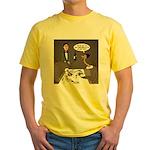 Ostrich Fine Dining Yellow T-Shirt