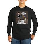 Ostrich Fine Dining Long Sleeve Dark T-Shirt