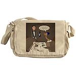 Ostrich Fine Dining Messenger Bag
