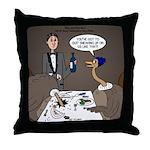 Ostrich Fine Dining Throw Pillow