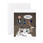 Ostrich Fine Dining Greeting Cards (Pk of 10)