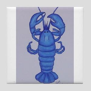 BLUE LOBSTER Tile Coaster