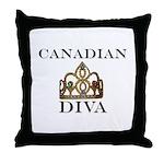 Canadian DIVA Throw Pillow