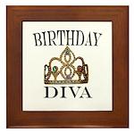 BIRTHDAY DIVA Framed Tile