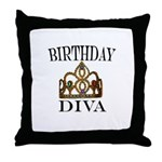 BIRTHDAY DIVA Throw Pillow