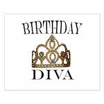 BIRTHDAY DIVA Small Poster