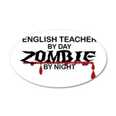 English Teacher Zombie Wall Decal