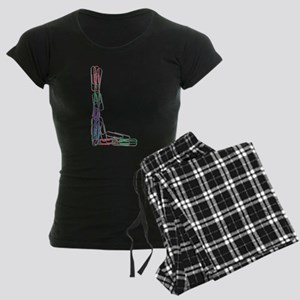 L Paper Clips Women's Dark Pajamas