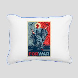 Obama For War Rectangular Canvas Pillow