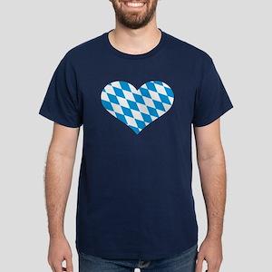 Bavaria flag heart Dark T-Shirt
