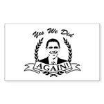 Obama Yes We Did Again V2 BW Sticker (Rectangle 10