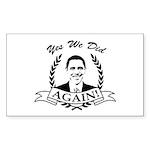 Obama Yes We Did Again V2 BW Sticker (Rectangle 50