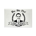 Obama Yes We Did Again V2 BW Rectangle Magnet (100