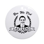 Obama Yes We Did Again V2 BW Ornament (Round)