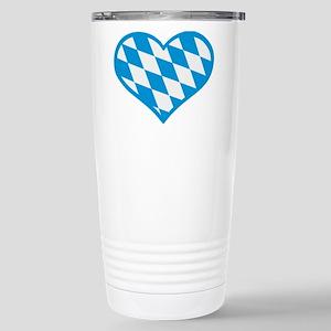 Bavaria flag heart Stainless Steel Travel Mug