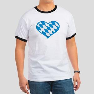 Bavaria flag heart Ringer T