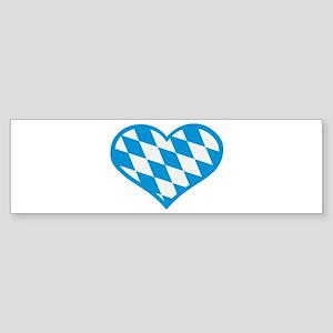 Bavaria flag heart Sticker (Bumper)