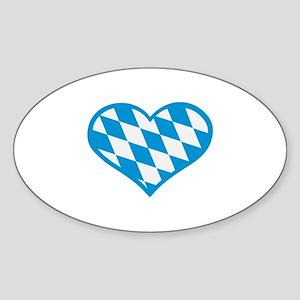 Bavaria flag heart Sticker (Oval)