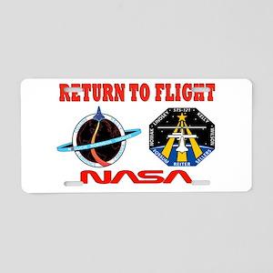 Return To Flight Aluminum License Plate