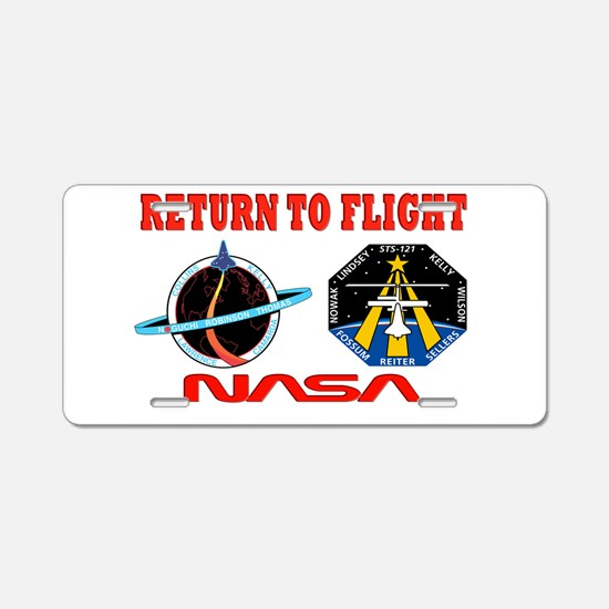 Return To Flight Aluminum License Plate