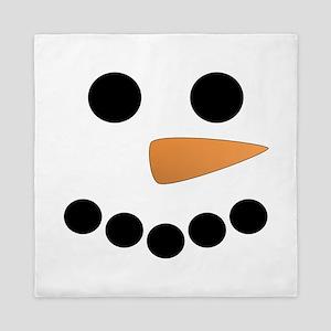 Snowman Face Queen Duvet
