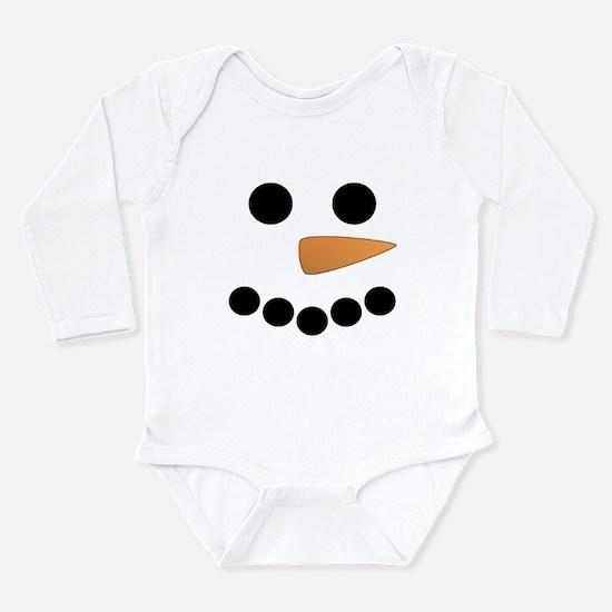 Snowman Face Onesie Romper Suit