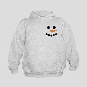 Snowman Face Kids Hoodie