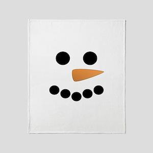 Snowman Face Throw Blanket