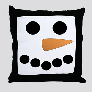 Snowman Face Throw Pillow