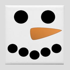 Snowman Face Tile Coaster