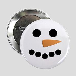 "Snowman Face 2.25"" Button"
