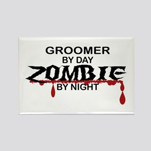 Groomer Zombie Rectangle Magnet