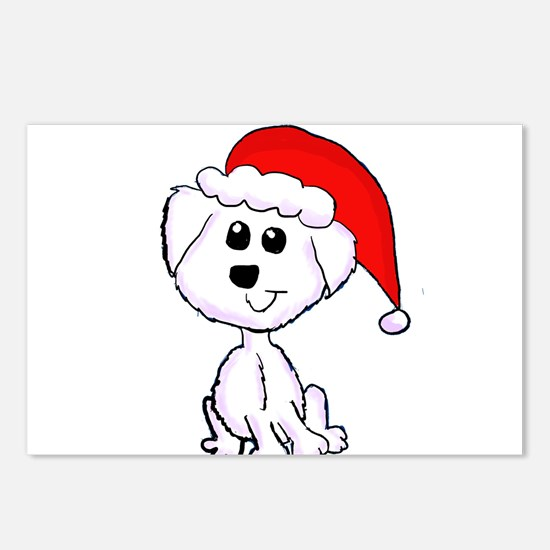 Christmas Yorkie Postcards (Package of 8)