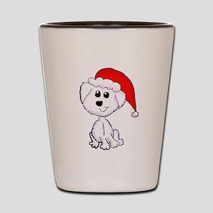 Christmas Yorkie Shot Glass