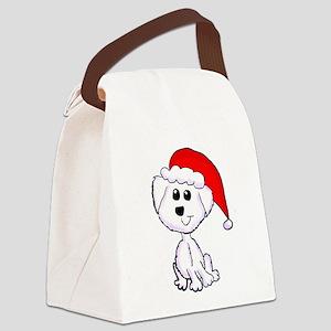 Christmas Yorkie Canvas Lunch Bag