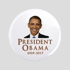 """Obama 2009 - 2017 3.5"""" Button"""