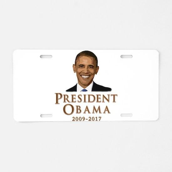 Obama 2009 - 2017 Aluminum License Plate