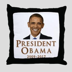 Obama 2009 - 2017 Throw Pillow