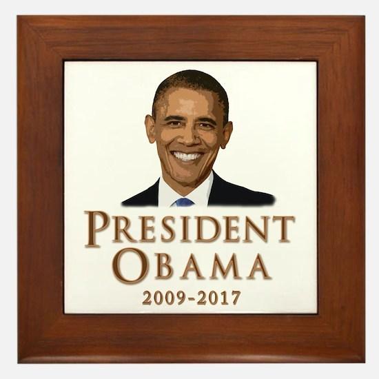 Obama 2009 - 2017 Framed Tile