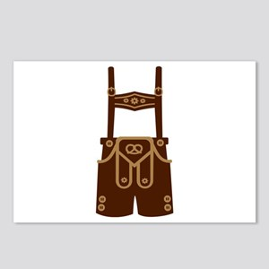 Leather trousers bavaria Postcards (Package of 8)