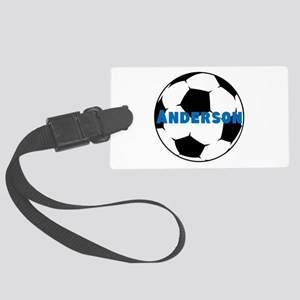 Personalized Soccer Large Luggage Tag