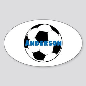 Personalized Soccer Sticker (Oval)