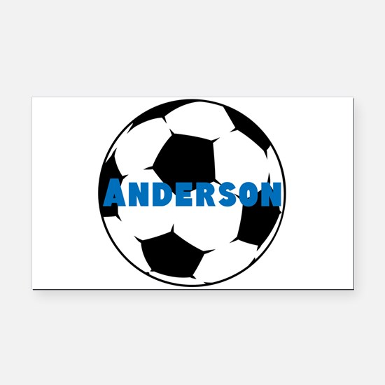 Personalized Soccer Rectangle Car Magnet