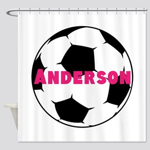 Personalized Soccer Shower Curtain
