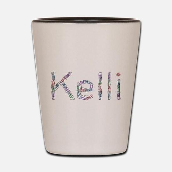 Kelli Paper Clips Shot Glass