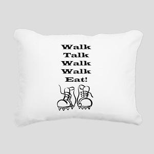 Walk Talk Eat Rectangular Canvas Pillow