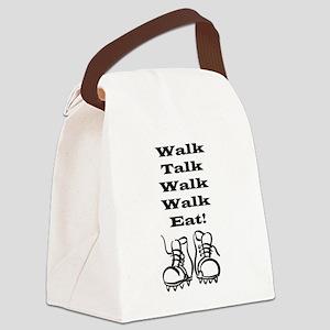 Walk Talk Eat Canvas Lunch Bag