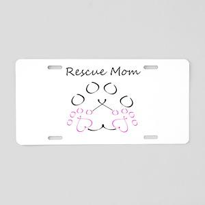 Rescue Mom Aluminum License Plate