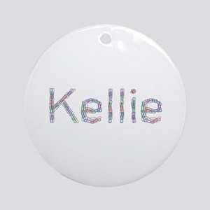 Kellie Paper Clips Round Ornament